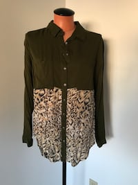 Free People Button Up Size Small  Surrey