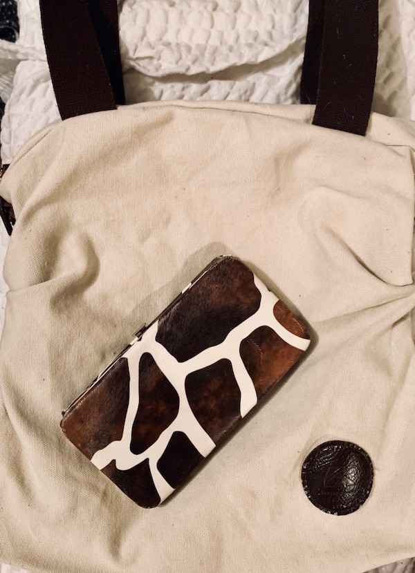 Summer canvas shoulder bag & free wallet