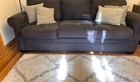 3 Seater Sofa Grey Fabric 7ft wide x 3ft depth