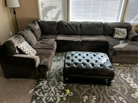 black leather sectional sofa with ottoman Moreno Valley, 92557