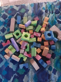 53 Foam Blocks Baby or Small Child Toy