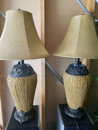 two brown-and-white table lamps Peoria, 85381