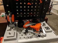 Kids black and Decker tool bench