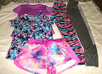 Girl's Champion, SO, and Zelos Shorts, Shirts and Lggings Size L(10-12) Charlotte