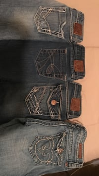 $15. each, women's jeans-bke and Rock Revival; size 24 & 25 Lake Charles, 70605
