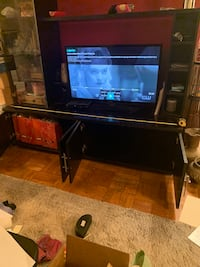 Entertainment Center and Flat Screen
