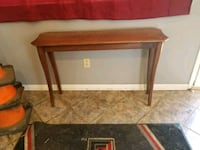 brown wooden framed glass top table Lubbock, 79416
