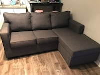 Contemporary grey sectional with interchangeable chaise Toronto