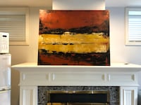 Large original abstract painting Vancouver, V5P 3S3
