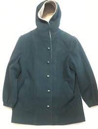 Vintage Herman Kay dark Forest Green  Wool Hooded Jacket / Coat Jacket Palo Alto, 94301