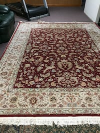 Two reverse pattern wool carpets buy each for $1000 or both for $1800 Danbury