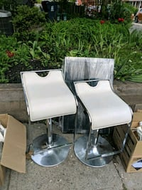 Leather and chrome bar stools  Toronto, M5T 1J4