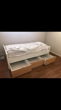 Ikea Twin Bed with 2 Mattresses!!!! Los Angeles, 91335
