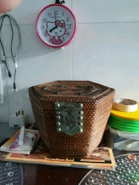 brown wicker basket with lid Singapore, 760716