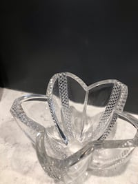 """Heavy Lead glass bowl with fluted edges. 4 1/2"""" x 6 1/2"""""""