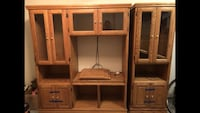 brown wooden TV hutch with cabinet Campbell, 95008