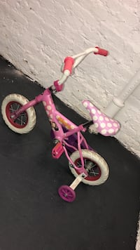 Toddler's white and pink minnie mouse training bicycle New York, 10031