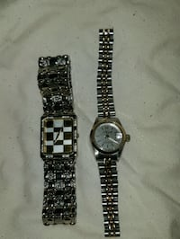 two round silver analog watches Edmonton, T6T 1K8