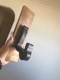 One-of-a-kind...handcrafted wood and metal coat hook , 10458