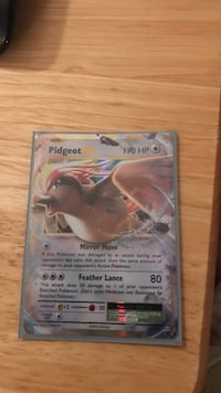Pidgeot trading card