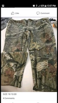 brown and green camouflage cargo pants screenshot Columbus, 43220