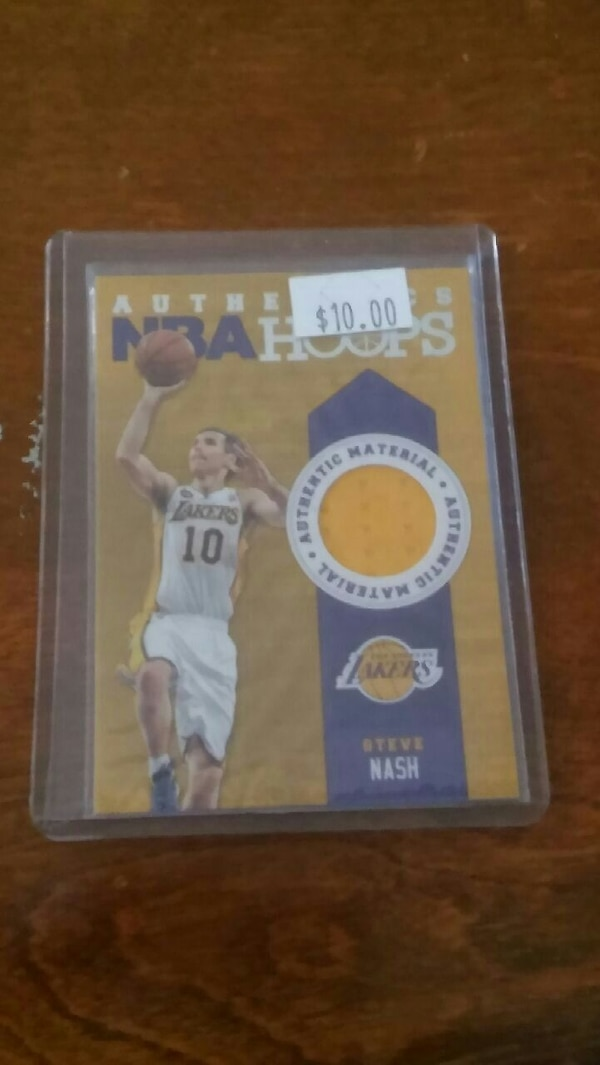 brand new 84b70 5eb25 Los Angeles Lakers Steve Nash Jersey Card