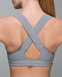 lululemon All Sport Bra grey size 8 King, L0G 1N0