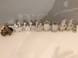 Small ceramic figures 9pc