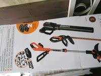 Worx weed eater, hedger and blower combo..
