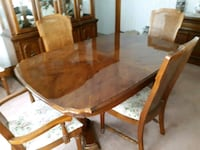 Complete Dining Room Set - Table w 6 Chairs, Hutch Amsterdam, 12010