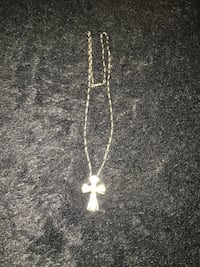Silver and gold cross on sterling silver chain Abilene, 79606