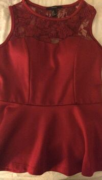red sleeveless top Gaithersburg, 20878