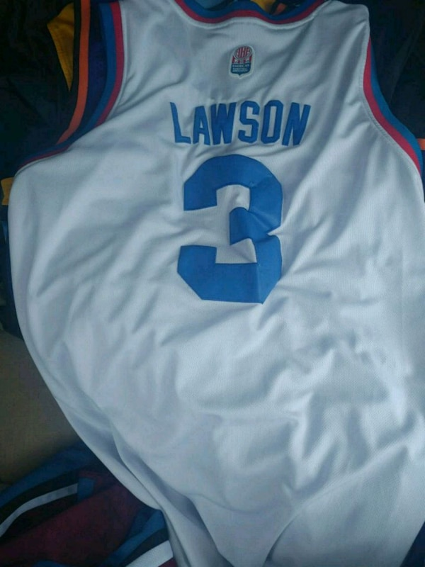 881d65cc360 Used white and blue Nike basketball jersey for sale in Denton - letgo