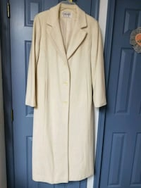 Cream Wool Coat, Size 8, Tall, Paid 140.00,  Nottingham, 21236