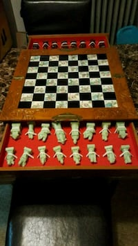 Eight fairies chess & board with box.