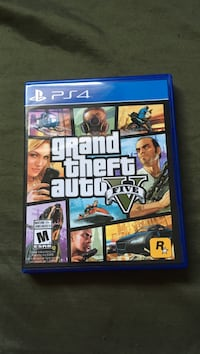 Grand theft auto five ps4 game case Red Deer, T4R 0C6