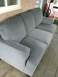 3 seat fabric sofa with washsble pillow covers  Markham, L3T 5X1