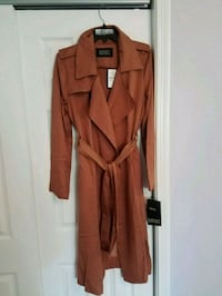 NEW Faux Leather trim long trench coat Bethesda, 20817