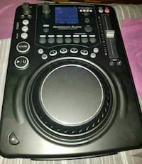 Black American DJ DJ turn table