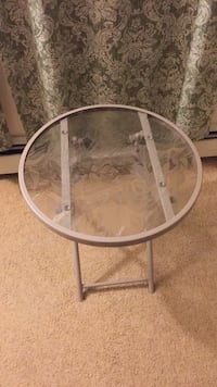 Beige Glass Side Table St. Francis, 53235