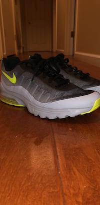 Pair of gray-and-black nike running shoes Greenbrae, 94904
