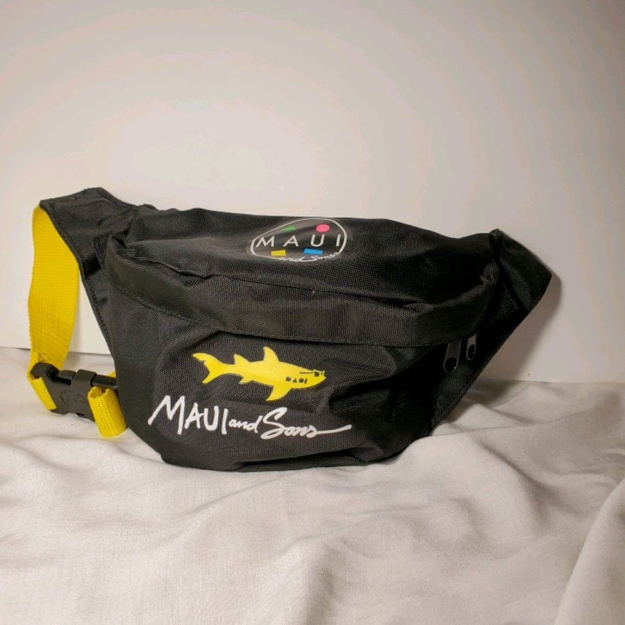 Maui and Sons Retro 80's/90's Jumbled Fanny Pack Waist/Hip Surf Travel