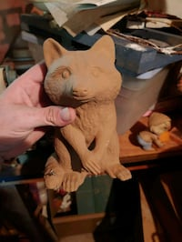 Unfinished racoon ceramic. Palmyra, 14522