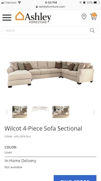 Two-piece sectional; great condition Washington, 20037