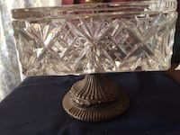 Vintage Crystal Caddy Dish with Lid Ottawa, K1E 1Y9