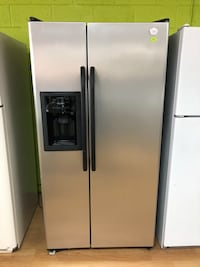 GE gray side by side refrigerator  Woodbridge, 22191