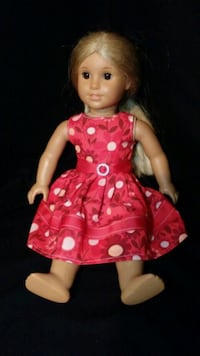 girl doll in pink and white polka dot dress Walkersville, 21793