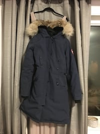 black and brown parka