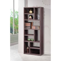 Imagio Home's Lifestyles Living Collection Wall Shelving Unit, Weathered Dark Grey ,SKU# 44232-4A1 Santa Fe Springs