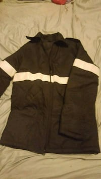 Women's black work jacket with silver hi-vis Hamilton, L8N 2C9